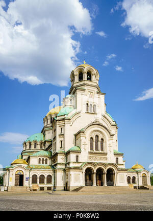 The St. Alexander Nevsky Cathedral in Bulgarian capital Sofia - Stock Photo