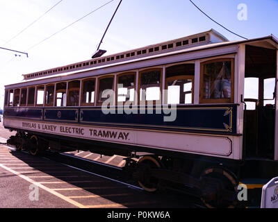 Manx Electric Railway (Douglas and Laxey Electric Tramway), Douglas - Stock Photo
