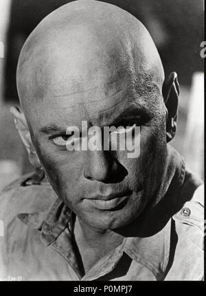 yul brynner cast a giant shadow (1966 stock photo