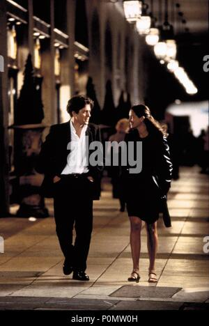 Original Film Title: NOTTING HILL.  English Title: NOTTING HILL.  Film Director: ROGER MICHELL.  Year: 1999.  Stars: HUGH GRANT; JULIA ROBERTS. Credit: POLYGRAM / COOTE, CLIVE / Album - Stock Photo