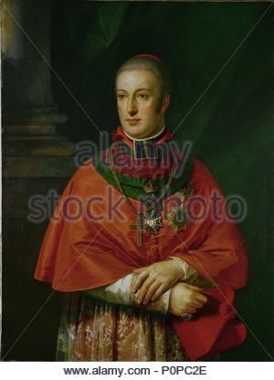 Rudolf of Austria (1788-1831), Archduke Cardinal Archbishop of Olmuetz, protector of Beethoven, founder of the Gesellschaft der Musikfreunde in Vienna. Oil on canvas. Location: Wien Museum Karlsplatz, Vienna, Austria. - Stock Photo