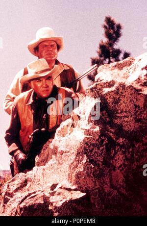 Original Film Title: BONANZA-TV.  English Title: BONANZA.  Film Director: ROBERT ALTMAN; LEWIS ALLEN.  Year: 1959.  Stars: LORNE GREENE; DAN BLOCKER. Credit: NATIONAL BROADCASTING CO. / Album - Stock Photo
