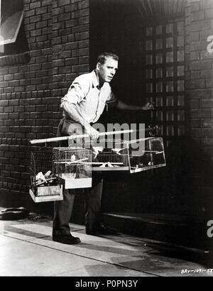 Original Film Title: BIRDMAN OF ALCATRAZ.  English Title: BIRDMAN OF ALCATRAZ.  Film Director: JOHN FRANKENHEIMER.  Year: 1962.  Stars: BURT LANCASTER. Credit: UNITED ARTISTS / Album - Stock Photo