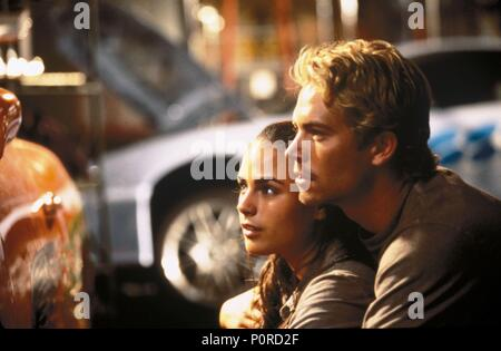 Original Film Title: FAST AND THE FURIOUS, THE.  English Title: FAST AND THE FURIOUS, THE.  Film Director: ROB COHEN.  Year: 2001.  Stars: PAUL WALKER. Credit: MEDIASTREAM FILM, NEAL H. MORITZ PRODUCTIONS, ORIGANL FILM / MARSHAK, BOB / Album - Stock Photo