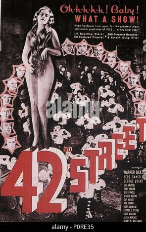 Original Film Title: 42ND STREET.  English Title: 42ND STREET.  Film Director: LLOYD BACON.  Year: 1933. Credit: WARNER BROTHERS / Album - Stock Photo