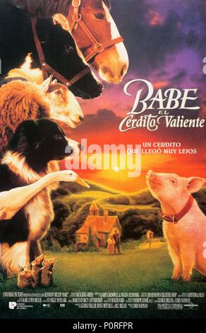 Original Film Title: BABE, THE GALLANT PIG.  English Title: BABE, THE GALLANT PIG.  Film Director: CHRIS NOONAN.  Year: 1995. Credit: UNIVERSAL PICTURES / Album - Stock Photo