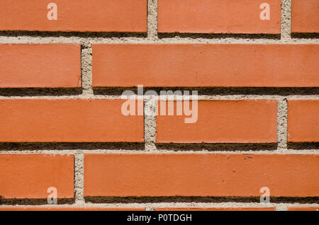 Red New Brick Wall Pattern Background Front Or Top View