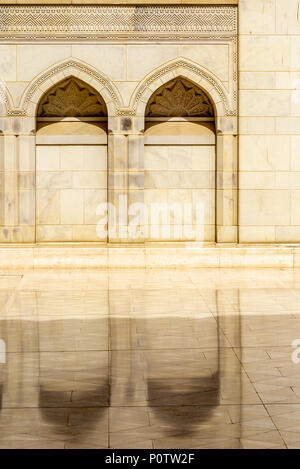 Architectural design detail of the Muscat Grand Mosque - 1 - Stock Photo