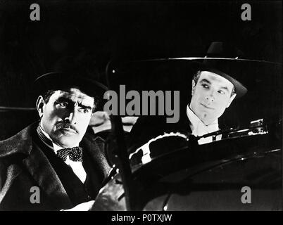 Original Film Title: ARSENE LUPIN RETURNS.  English Title: ARSENE LUPIN RETURNS.  Film Director: GEORGE FITZMAURICE.  Year: 1938.  Stars: J. CARROL NAISH; CHARLES KORVIN. - Stock Photo