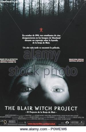 Original Film Title: THE BLAIR WITCH PROJECT.  English Title: THE BLAIR WITCH PROJECT.  Film Director: EDUARDO SANCHEZ; DANIEL MYRICK.  Year: 1999. Copyright: Editorial inside use only. This is a publicly distributed handout. Access rights only, no license of copyright provided. Mandatory authorization to Visual Icon (www.visual-icon.com) is required for the reproduction of this image. Credit: HAXAN FILMS / Album - Stock Photo