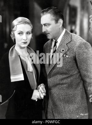 Original Film Title: ARSENE LUPIN.  English Title: ARSENE LUPIN.  Film Director: JACK CONWAY.  Year: 1932.  Stars: JOHN BARRYMORE; KAREN MORLEY. Credit: M.G.M / Album - Stock Photo