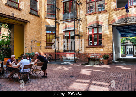 people sitting at restaurant tables old town le mans france europe stock photo 73059655 alamy. Black Bedroom Furniture Sets. Home Design Ideas
