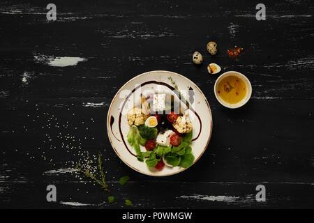 Tasty vegetarian salad - Stock Photo