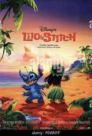 Original Film Title: LILO & STITCH.  English Title: LILO & STITCH.  Film Director: DEAN DEBLOIS; CHRIS SANDERS.  Year: 2002. Credit: WALT DISNEY PICTURES / Album - Stock Photo