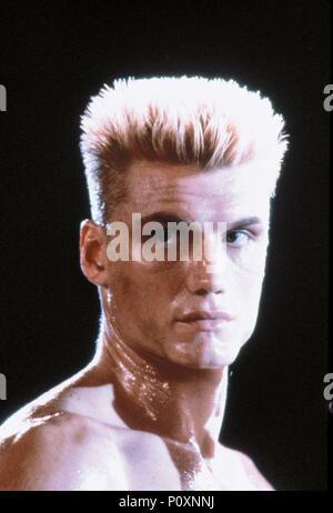 Original Film Title: ROCKY IV.  English Title: ROCKY IV.  Film Director: SYLVESTER STALLONE.  Year: 1985.  Stars: DOLPH LUNDGREN. Credit: M.G.M/UNITED ARTIST / Album - Stock Photo
