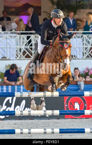 Cannes, France. 09th June, 2018. Britain Scott Brash Team New York Empire on Hello Mr President competes during the 2018 Longines Global Champions League in Cannes on June 09, 2018 Credit: BTWImages Sport/Alamy Live News - Stock Photo
