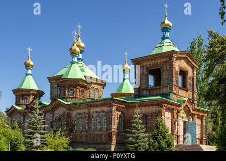 Holy Trinity Cathedral, Karakol, Kyrgyzstan - Stock Photo