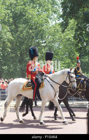 The Royal family attending Trooping the colour in London 2018 - Stock Photo