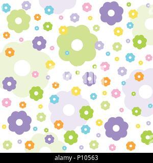 Seamless floral pattern, wallpaper - Stock Photo