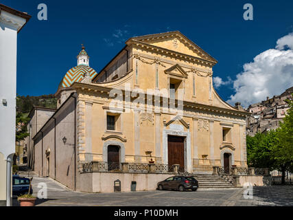 Chiesa Santa Maria Maddalena, 16th century, in hill town of Morano Calabro, Calabria, Italy - Stock Photo