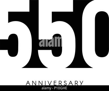 fifty anniversary minimalistic logo fiftieth years 50th jubilee
