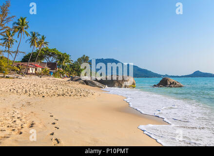 Sunrise over Samui island in Thailand. Lamai Beach. - Stock Photo