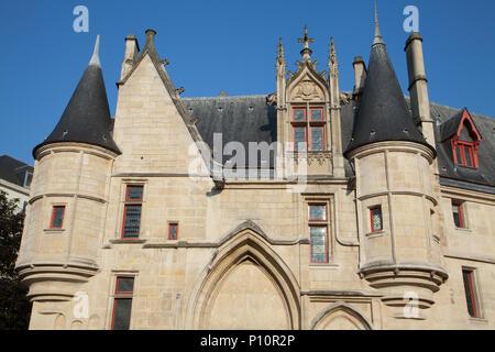 Hôtel de Sens (Bibliothèque Forney), Paris, France. - Stock Photo