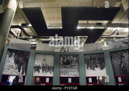 Huge swastika as a part of exhibion in Museum of the Second World War in Gdansk, Poland. January 23rd 2017 © Wojciech Strozyk / Alamy Stock Photo - Stock Photo