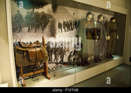 Nazi German Invasion of Poland in September 1939 as a part of exhibion in Museum of the Second World War in Gdansk, Poland. January 23rd 2017 © Wojcie - Stock Photo