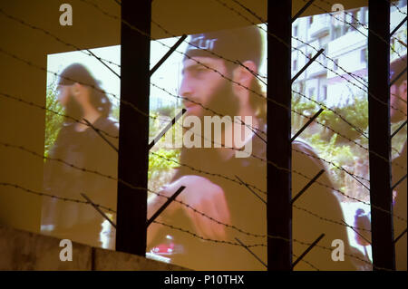 Global War of Terror film as a part of exhibion in Museum of the Second World War in Gdansk, Poland. January 23rd 2017 © Wojciech Strozyk / Alamy Stoc - Stock Photo