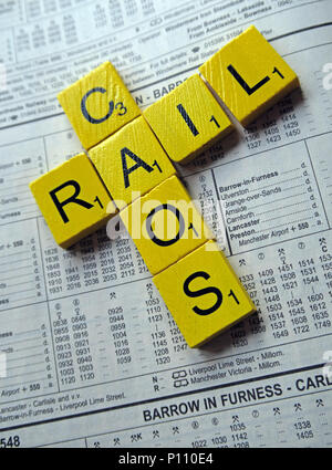 Rail chaos and failures on Northern Rail, Arriva Rail North & Thameslink franchise, - Stock Photo
