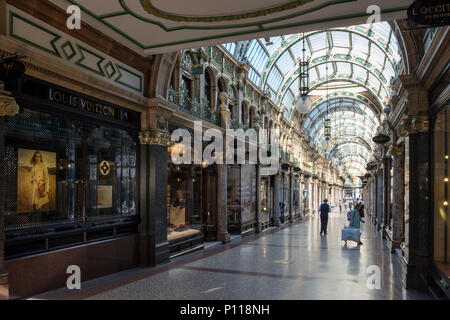 County Arcade in the Victoria Quarter, Leeds, West Yorkshire, England, UK - Stock Photo