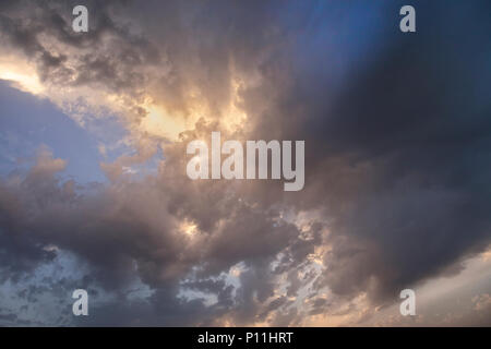 Cloudscape at sunset. Dramatic  sky. Isolated. Stock Image. - Stock Photo