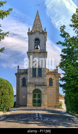 Santa Eulalia church in Pacos de Ferreira, north of Portugal - Stock Photo