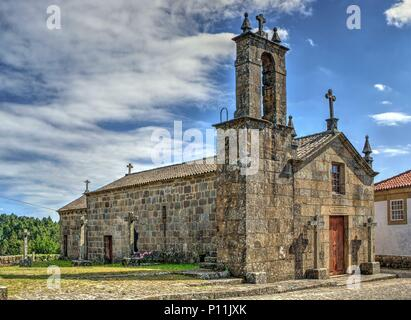 Old church of Sanfins de Ferreira in Pacos de Ferreira, north of Portugal - Stock Photo