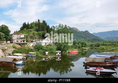 Virpazar village, Lake Skadar, Montenegro, June 2018 - Stock Photo