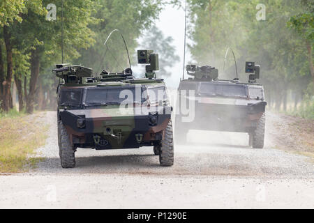 German light armoured  reconnaissance vehicle drives on a road - Stock Photo