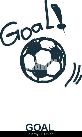 Goal icon. Mobile apps, printing and more usage. Simple element sing. Monochrome Goal icon illustration. - Stock Photo