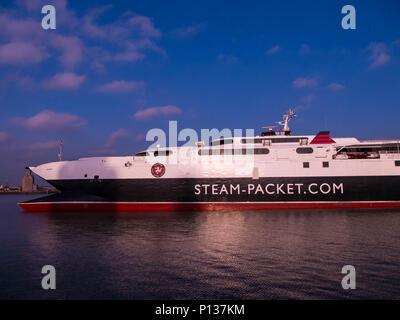 Isle of Man Steam Packet Company catamaran ferry Manannan - Stock Photo