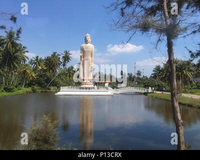 Tsunami Memorial - Peraliya Buddha Statue in Hikkaduwa, Sri Lanka - Stock Photo