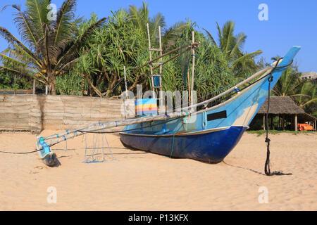 traditional fishing boat on Sri Lanka - Stock Photo