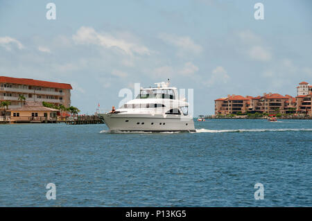 The waters around Marco Island and in their Bay are often attractive to boaters in Southwest Florida. - Stock Photo
