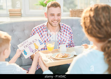 Ideal Morning of Fathers Day - Stock Photo