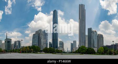 Huangcheng Square Panorama, Guangzhou China - Stock Photo