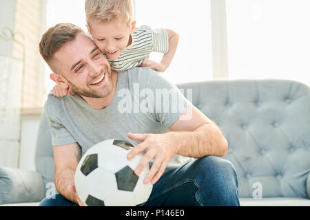 Family of Football Lovers - Stock Photo