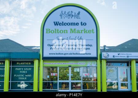 Bolton Market, Bolton, Greater Manchester, England, UK - Stock Photo