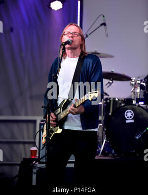 Moe Berg of The Pursuit of Happiness performs at Westfest in Ottawa June 9, 2018 - Stock Photo