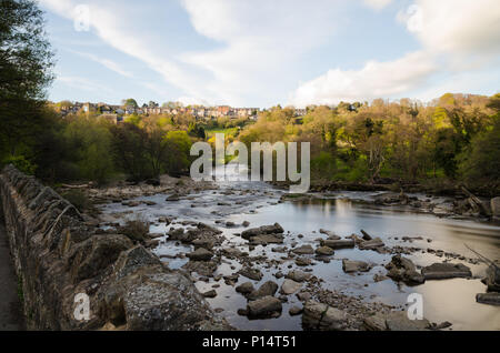 The River Swale at Richmond, North Yorkshire - Stock Photo