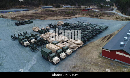 The Marine Corps drew approximately 500 ground combat vehicles from caves in Norway for Strategic Mobility Exercise 17. The equipment, as part of the Marine Corps Prepositioning Program-Norway (MCPP-N), was drawn during the exercise to determine the amount of time required to provide the assets to a quick reaction force should the Marine Corps be called to an operation or contingency abroad. The program reduces reaction time and eliminates the need to deploy equipment from locations in the continental United States. - Stock Photo