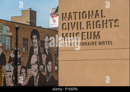 National Civil Rights Museum at the Lorraine Motel, site of the assassination of Martin Luther King in 1968, in Memphis, TN.